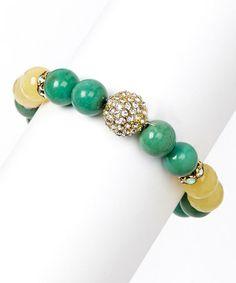 Turquoise & Honey Stretch Bracelet
