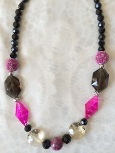 Necklace with Jesse James Beads
