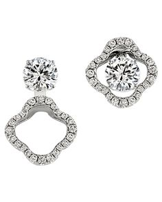 Gottlieb & Sons floral convertible earring jackets available at Houston Jewelry!  www.houstonjewelry.com
