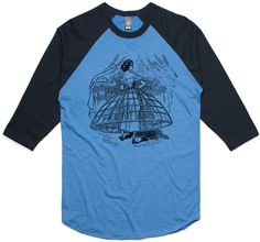 theIndie Crinoline Dress (Black) 3/4-Sleeve Raglan Baseball T-Shirt