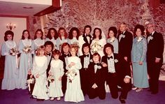 Wayne & Kathy Osmond married 13th December 1974. Surrounded by the Osmond family...