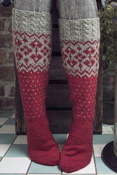 Socks Tähtitaivas by Novita knits Fair Isle Knitting, Knitting Socks, Hand Knitting, Knitting Patterns, Cross Stitch Christmas Stockings, Stocking Tights, Wool Socks, Knee Socks, Sock Yarn