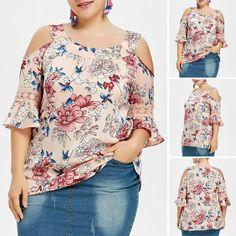 Blusa talla grande Plus Size Blouses, Plus Size Tops, Curvy Girl Fashion, Plus Size Fashion, Latest Top Designs, Plus Size Chic, Modelos Plus Size, Colourful Outfits, Blouse Patterns