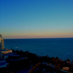 My view of Miami beach at the famous Fontaine Bleu Hotel