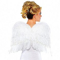 Amscan Womens White Feather Wings (Ages 14 ) Halloween Costume Accessory *** This is an Amazon Affiliate link. Find out more about the great product at the image link.