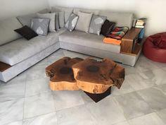 Handmade solid walnut coffee table  Dimensions (width 70cm weight 25cm) #casadinoce #solidwalnut