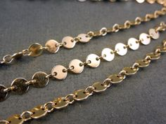 Gold Fill Disk and Link Chain  PER FOOT by jewelersparadise, $22.00