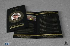Funeral Program Template by Madhabi Studio on @creativemarket