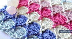 MyPicot   Free crochet pattern: Crochet Textured Stitch Pattern.