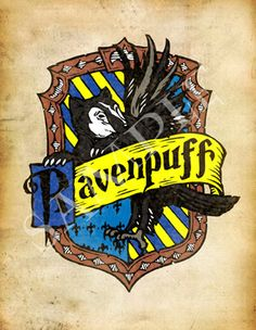 Harry Potter Ravenpuff Cross-House Crest Postcard by CrestCrossed