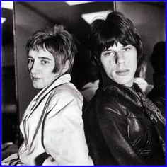 Rod Stewart and Jeff Beck