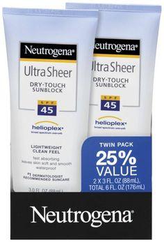 mua hàng giá rẻ: Kem chống nắng Neutrogena Ultra Sheer SPF 45 88ml