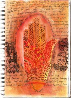 sacral chakra cleansing artwork art journalling 2011. #sacral #chakra