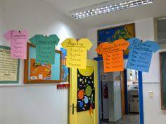 Πρώτα ο δάσκαλος...: Στολίστε τους τοίχους σας! Class Door Decorations, Class Decoration, Classroom Door, Classroom Organization, School Grades, Home Schooling, Special Education, Grammar, Back To School