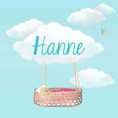 Birth announcement for Hanne - By Josien van Brussel