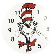 Trend Lab Cat in the Hat Wall Clock from Target baby department, has coordinated pieces