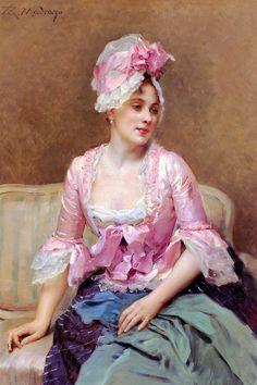 Portrait of Aline Mason - Raimundo de Madrazo y Garreta. #classic #art #painting