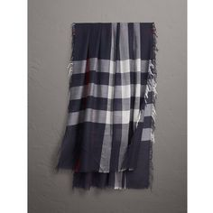 Burberry Lightweight  Wool Cashmere Scarf (€350) ❤ liked on Polyvore featuring men's fashion, men's accessories, men's scarves, mens wool scarves, mens cashmere scarves, mens woolen scarves and burberry mens scarves