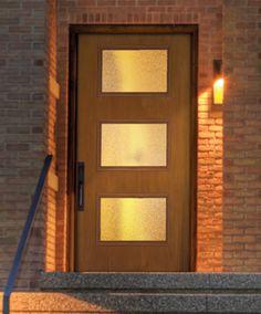6 Best Sources For Mid Century Modern Doors: Therma-Tru Pulse Mid Century Modern Door, Mid Century House, Mid Century Modern Design, Fiberglass Entry Doors, Retro Renovation, Exterior Doors, Exterior Remodel, The Ranch, Door Design