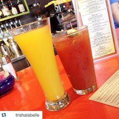 Snooze mimosa and a classic bloody. Brunch done right!