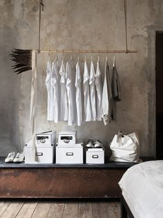 Find in this gallery the best industrial style closet designs for your bedroom. Industrial design in high popularity nowadays, and everyone seems to have a line of industrial-style furnishings and fix Regal Industrial, Industrial Interiors, Industrial Style, Industrial Closet, Industrial Apartment, Industrial Desk, Industrial Living, Industrial Wallpaper, Industrial Windows