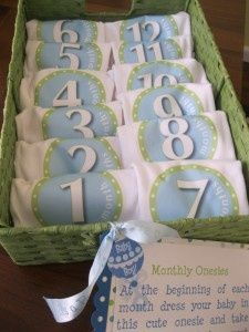 Monthly Onesies: Baby Shower Gifts | Photo Ideas, Tools & Cricut Ideas, Scrapbook Inspiration | That's What She Scrapped