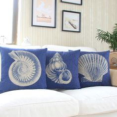 Seashell Collection Decorative Pillow Case by HandmadeCasEnvy, $16.99