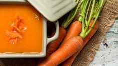 Potaje frío de zanahorias Carrots, Food And Drink, Yummy Food, Vegetables, Recipes, Club, Gastronomia, Gourmet, Vegetarian