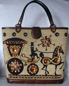Enid Collins Vintage Handbag CARRIAGE TRADE