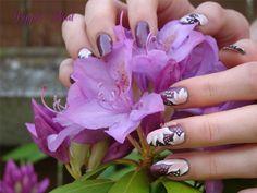 One Stroke above nice purple flowers -------- Un One stroke pour accompagner de belles fleurs