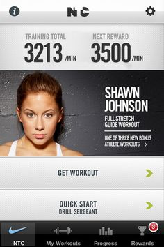 Nike Fitness App- love it!