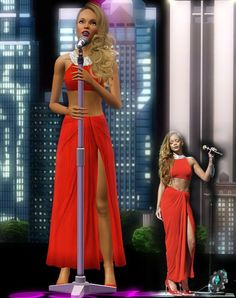 Sims 3 Finds - Rihanna's Dress by Shai at Sims 3 Art Factory