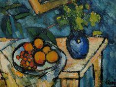 Maurice de Vlaminck: Still Life, 1910 Henri Matisse, Andre Derain, Raoul Dufy, Painting Still Life, Still Life Art, Art Fauvisme, Maurice De Vlaminck, Impressionist Artists, Art Plastique
