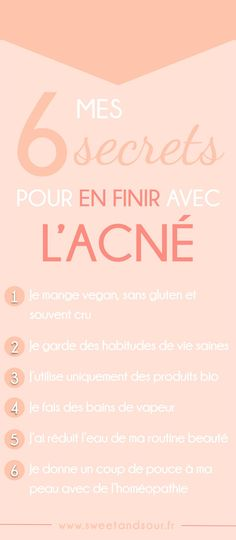 sweet-and-sour-mes-secrets-pour-en-finir-avec-l-acné. Beauty Tips For Face, Beauty Box, Beauty Make Up, Beauty Secrets, Beauty Care, Beauty Hacks, Maquillaje Halloween, How To Get Rid Of Acne, Acne Skin