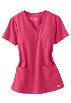 Greys Anatomy v-neck 2-pocket scrub top | Scrubs and Beyond