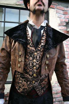 steampunk men | men's steampunk cutaway coat