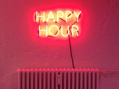 'Happy Hour' Neon, 2013 by artists Douglas Gordon & Jonathan Monk