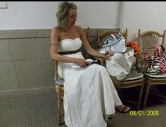 August 1, 2009... wedding day, writing her vows