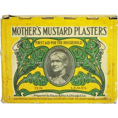 Mother's Mustard Plasters Tin from thecuriousamerican on Ruby Lane
