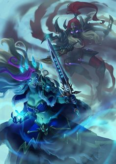 ArtStation - Frost Lich Jaina VS Valeera, The Hollow , Marcos Kenji Uchima
