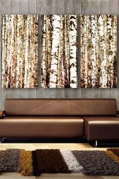 Birch Trees Wall Art Hangings prints...I really like these, I could see myself owning something like them one day