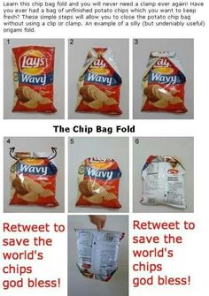 How to fold a bag of chips