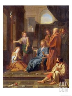 Christ in the House of Martha and Mary Giclee Print by Jean-Baptiste Jouvenet at Art.com
