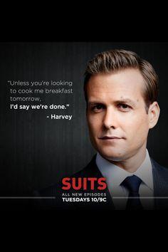 He can make me breakfast ... #HarveySpecter #Suits