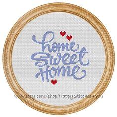 Cross Stitch Pattern PDF home sweet home DD0015