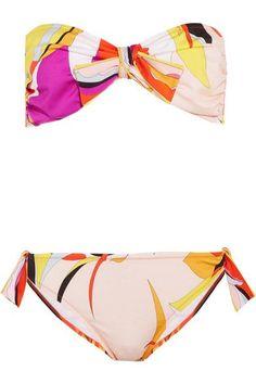 Emilio Pucci - Fiore Maya Printed Bandeau Bikini - Pink - IT