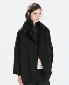 SHORT DOUBLE BREASTED OVERCOAT-Coats-Outerwear-WOMAN | ZARA United States