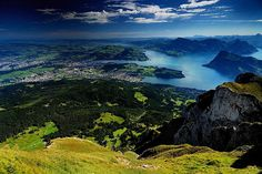 Lucerne area and Lake Lucerne from Mount Pilatus