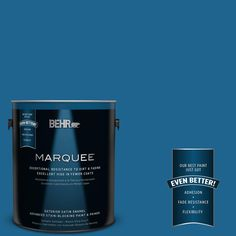 BEHR MARQUEE 1-gal. #MQ5-57 Traditional Blue Satin Enamel Exterior Paint