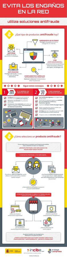 Herramientas antifraude para que no te engañen en Internet #infografía #infographic - TICs y Formación